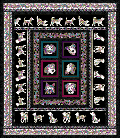 Dog Walk 9050 QUilt Pattern2