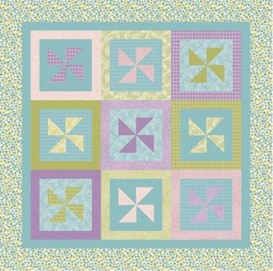 Pinwheels In The Garden Quilt Pattern