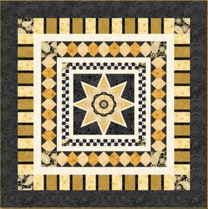 Star Jubilee Black Pattern